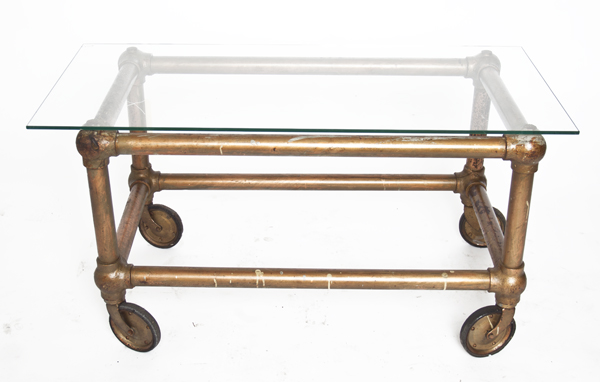 CASKET COFFEE TABLE INDUSTRIAL ANTIQUES AND ODDITIES - Casket coffee table