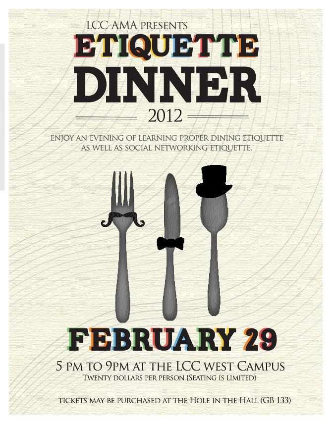 Lansing Community College Etiquette Dinner Sarah Garner